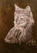 Spirit Glass Art Metal Prints - Spirit Fox  Metal Print by Rick Silas