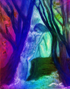 Intuitive Prints - Spirit Guides II Print by Patricia Motley
