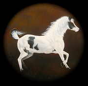 Paint Horse Mixed Media Posters - Spirit Horse Drum  Poster by Ethan  Foxx