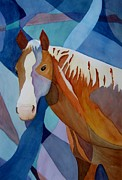 Abstracted Animal Paintings - Spirit Horse by Vicki Brevell