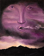Surreal Landscape Painting Metal Prints - Spirit in the Clouds Metal Print by Leah Saulnier The Painting Maniac