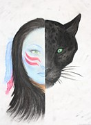 Big Cat Pastels Posters - Spirit Poster by Jennifer Perry