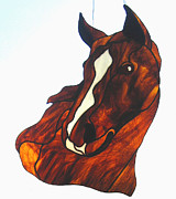 Horse Glass Art - Spirit by Loran Elizabeth Conley