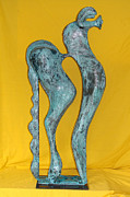 Horses Sculpture Prints - Spirit Of a Young Horse Print by Al Goldfarb