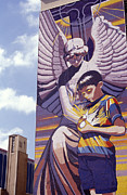 Spirit Of Healing Mural San Antonio Texas Print by John  Mitchell