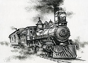 Train Drawings Originals - Spirit of Steam by James Williamson