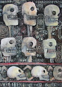 Collagraph Prints - Spirit of the Dead Print by Pamela Iris Harden