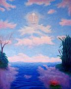Metaphysical Painting Originals - Spirit Of The Lake by Brian  Commerford