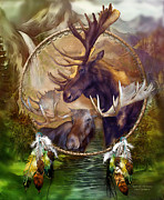 Moose Art Framed Prints - Spirit Of The Moose Framed Print by Carol Cavalaris
