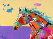 Colorful Horse Paintings - Spirit of the Plains by Tracy Miller