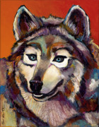 Abstract Dogs Paintings - Spirit of the Wolf by Bob Coonts