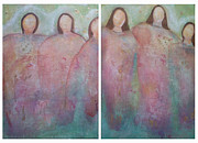 Sisters Paintings - Spirit Sisters by Gemma Benton Jackson