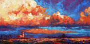 Southwest Sky Metal Prints - Spirit Sky Metal Print by Marion Rose