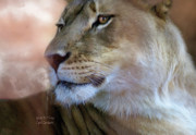 Big Cat Print Framed Prints - Spirit To Thrive Framed Print by Carol Cavalaris