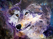 Animal Paintings - Spirit Wolf by Sherry Shipley