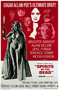 Italian Cinema Framed Prints - Spirits Of The Dead, Aka Histoires Framed Print by Everett