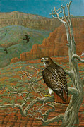 Red Tail Hawk Paintings - Spirits of the Jemez by Jon Janosik