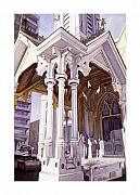 Church Pillars Art - Spirits of the Old Church by Mike Hill