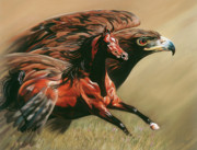 Horses Pastels Prints - Spirits Take Flight Print by Kim McElroy