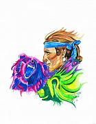 Native American Drawings Framed Prints - Spirits2 Framed Print by Jason McRoberts