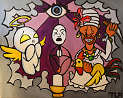Santeria Paintings - Spiritual Enlightment by Ivan J Roque