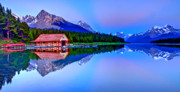 Rocky Mountains Prints - Spiritual Lake Print by Scott Mahon