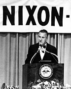 Agnew Photos - Spiro Agnew Speaking In Front by Everett