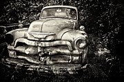 White Truck Framed Prints - Spit Shine Part Deux Framed Print by Chad Tracy