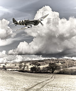 Spitfire Photos - Spitfire Country by Ian Merton