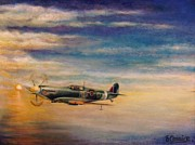 Bono Digital Art - Spitfire in Flight by Liam O Conaire