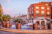 Concord Prints - Splash Fountain in Waterfront Park Print by Vanessa Kauffmann
