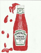 Ketchup Framed Prints - Splash Ketchup Framed Print by Jasmine Norris