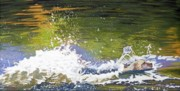 White River Pastels Prints - Splash Print by Robert Decker