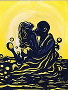 Couples Painting Prints - Splash Print by Toni  Thorne