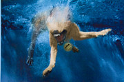 Diving Dog - Splashdown 2 by Jill Reger