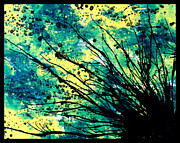 Ink Paintings - Splatter Roots 01 by Kalie Hoodhood