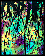 Paint Drips Framed Prints - Splatter Roots 03 Framed Print by Kalie Hoodhood