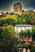 Old Street Metal Prints - Splendid Alhambra  Metal Print by Levin Rodriguez