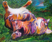 Cats Prints - Splendor in the Grass Print by Andrea Folts