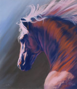 Horse Pastels Posters - Splendor Poster by Kim McElroy