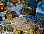 Dappled Light Photos - Splish Splash among Rocks by George Ramos