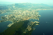 Lansdcape Prints - Split Croatia aerial view Print by John Butterfiled