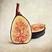 Food And Drink Art - Split Fresh Figs by Pamela N. Martin