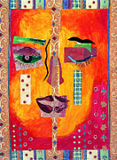 Diane Fine Mixed Media Metal Prints - Split Personality Metal Print by Diane Fine