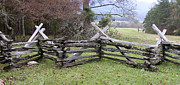 Split Rail Fence Photos - Split Rail Fence by Tim Mulina