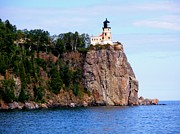 Bridget Johnson Metal Prints - Split Rock Lighthouse Metal Print by Bridget Johnson