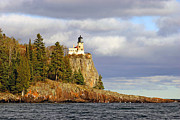 North Shore Framed Prints - Split Rock Lighthouse Framed Print by Steve Sturgill