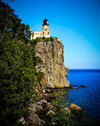 North Shore Prints - Split Rock Print by Perry Webster
