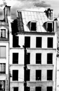 Rooftop Framed Prints - Split roof of a demolished building in Paris Framed Print by Sami Sarkis
