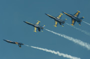 Air Plane Photo Prints - Split Print by Sebastian Musial